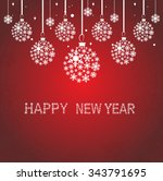 christmas ball made from... | Shutterstock .eps vector #343791695