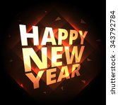 happy new year greeting... | Shutterstock .eps vector #343792784