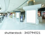 blank billboard in hallway of... | Shutterstock . vector #343794521