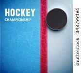illustration of hockey puck... | Shutterstock .eps vector #343799165