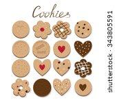 home made cookie. vector... | Shutterstock .eps vector #343805591