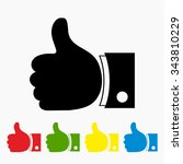 thumbs up with different color... | Shutterstock .eps vector #343810229