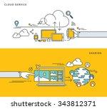 simple line flat design of... | Shutterstock .eps vector #343812371