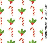 christmas background  vector... | Shutterstock .eps vector #343814639