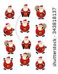 cartoon christmas matching game ... | Shutterstock . vector #343818137