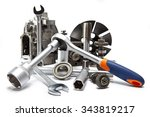 the part of car high pressure... | Shutterstock . vector #343819217