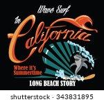 surf vector print | Shutterstock .eps vector #343831895