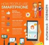big set infographic with charts ... | Shutterstock .eps vector #343846094
