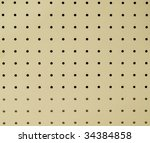 peg board or ceiling board... | Shutterstock . vector #34384858
