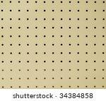peg board or ceiling board... | Shutterstock . vector #34384858