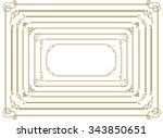 decorative gold frame set vector | Shutterstock .eps vector #343850651