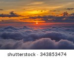 Layer Of Mountains And Mist At...