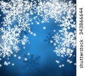 christmas background blue | Shutterstock . vector #343866644