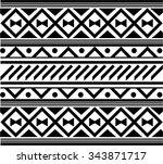 maori   polynesian style... | Shutterstock .eps vector #343871717