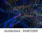 abstract pattern of city lights ... | Shutterstock . vector #343872305