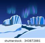 arctic landscape  background...