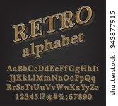 retro vintage style alphabet... | Shutterstock .eps vector #343877915