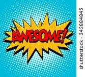 Awesome Comic Bubble Retro Tex...
