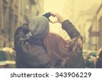 Stock photo couple in love focus on hands 343906229
