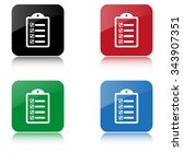 checklist    color vector icon  ... | Shutterstock .eps vector #343907351