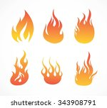 fire collection   illustration | Shutterstock .eps vector #343908791