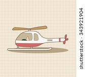 helicopter theme element vector ... | Shutterstock .eps vector #343921904