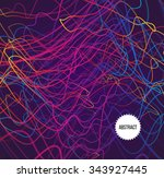 abstract rainbow lines on dark... | Shutterstock .eps vector #343927445