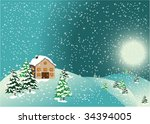christmas card | Shutterstock .eps vector #34394005