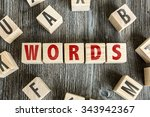 Small photo of Wooden Blocks with the text: Words