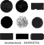 set of grunge rubber texture... | Shutterstock .eps vector #343943741