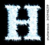 concept or conceptual 3d blue... | Shutterstock . vector #343948259