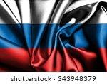 russian flag on silk.   Shutterstock . vector #343948379