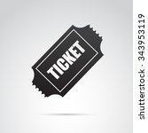 ticket icon isolated on white... | Shutterstock . vector #343953119
