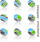 abstract vector icons such... | Shutterstock .eps vector #34395424