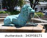 Lion Fountain In Puerto Rico