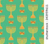 Hanukkah Background With...
