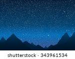vector background. starry night ... | Shutterstock .eps vector #343961534