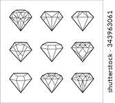 diamond vector icons set | Shutterstock .eps vector #343963061