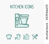 kitchen icons set. the kit... | Shutterstock .eps vector #343966655