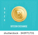 bitcoin exchange icon on the...