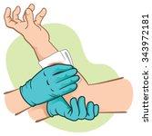 first control bleeding aid... | Shutterstock .eps vector #343972181