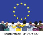 european union country flag... | Shutterstock . vector #343975427