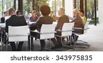 meeting seminar conference... | Shutterstock . vector #343975835