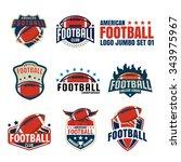 american football logo template ... | Shutterstock .eps vector #343975967