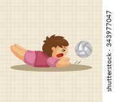 volleyball player theme elements | Shutterstock .eps vector #343977047