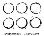 frames black color. vector... | Shutterstock .eps vector #343998395