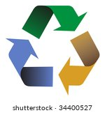 illustration of recycling arrows symbol. - stock photo