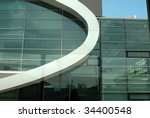 Reflection in the windows of a building - stock photo