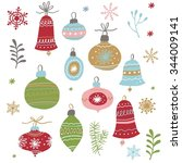 christmas toys vector set | Shutterstock .eps vector #344009141