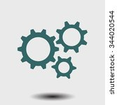 icon of gears. flat style.  | Shutterstock .eps vector #344020544